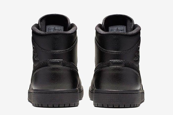 Air Jordan 1 Triple Black Heel