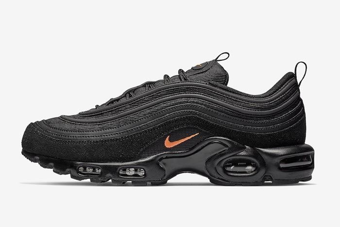 Nike Air Max Plus 97 Black Orange Lateral