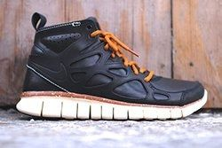 Nike Free Run 2 Mid Black Leather Thumb
