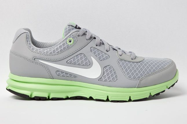 Nike Wmns Lunar Forever Grey Fair Grn Side 1