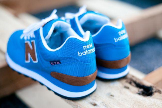 New Balance Women 574 Backpack Edition Teal Blue Heels 1