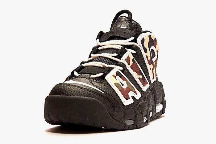 Nike Air More Uptempo Black Camo Toe