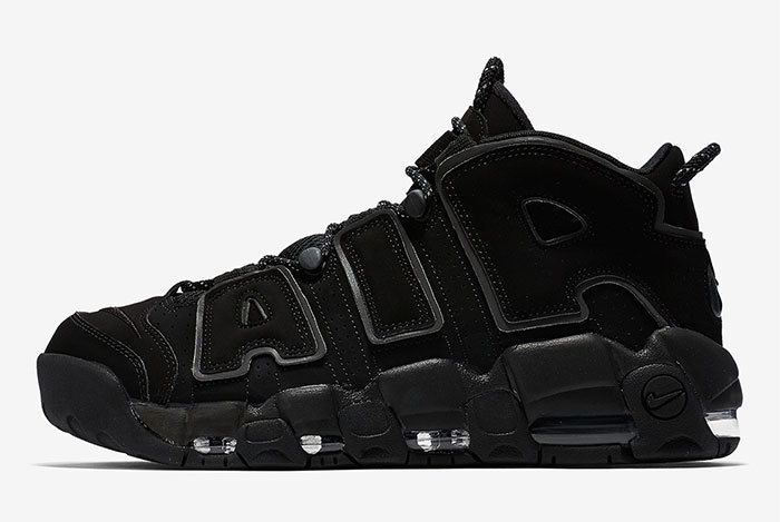 Nike Air More Uptempo Triple Black 2