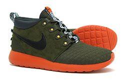 Nike Roshe Run Mid Sneaker Boot Dark Loden Quilt 2