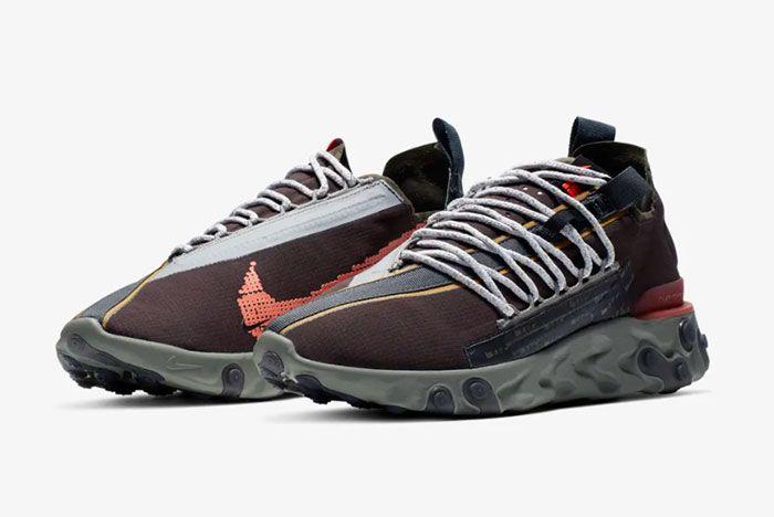 Nike Ispa React Low Velvet Brown Quarter