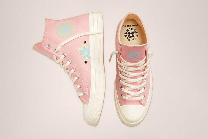 Golf Le Fleur Converse Chuck 70 Chenille Pink Release Date Top Down