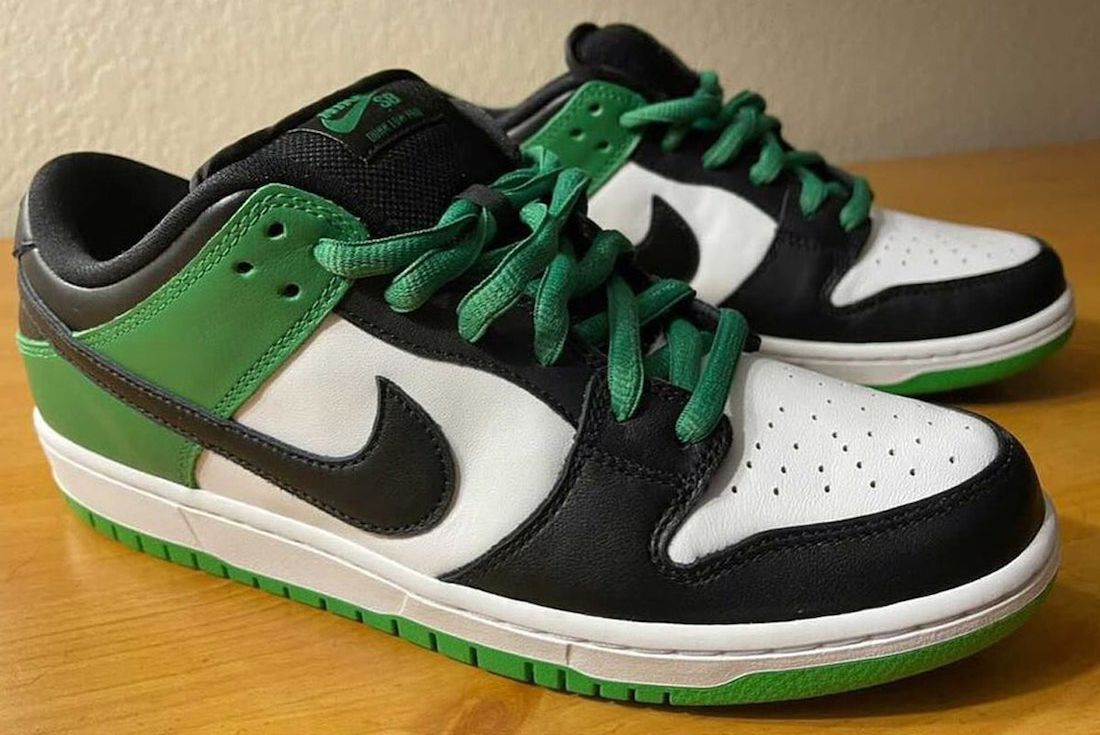 nike sb dunk low classic green leak