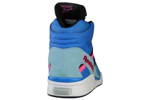 Reebok Twilight Zone Pump Blue Black Pink Heel1