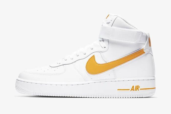 Nike Air Force 1 High White University Gold
