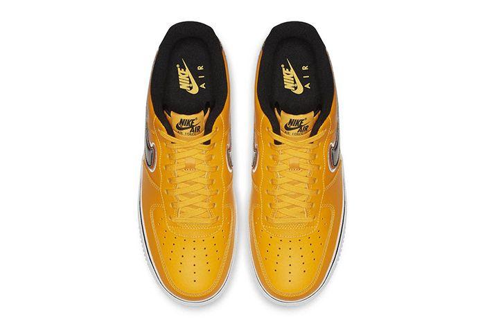 Nba Nike Air Force 1 Low Yellow Black 2