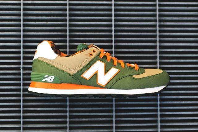 New Balance 574 Green Tan 2