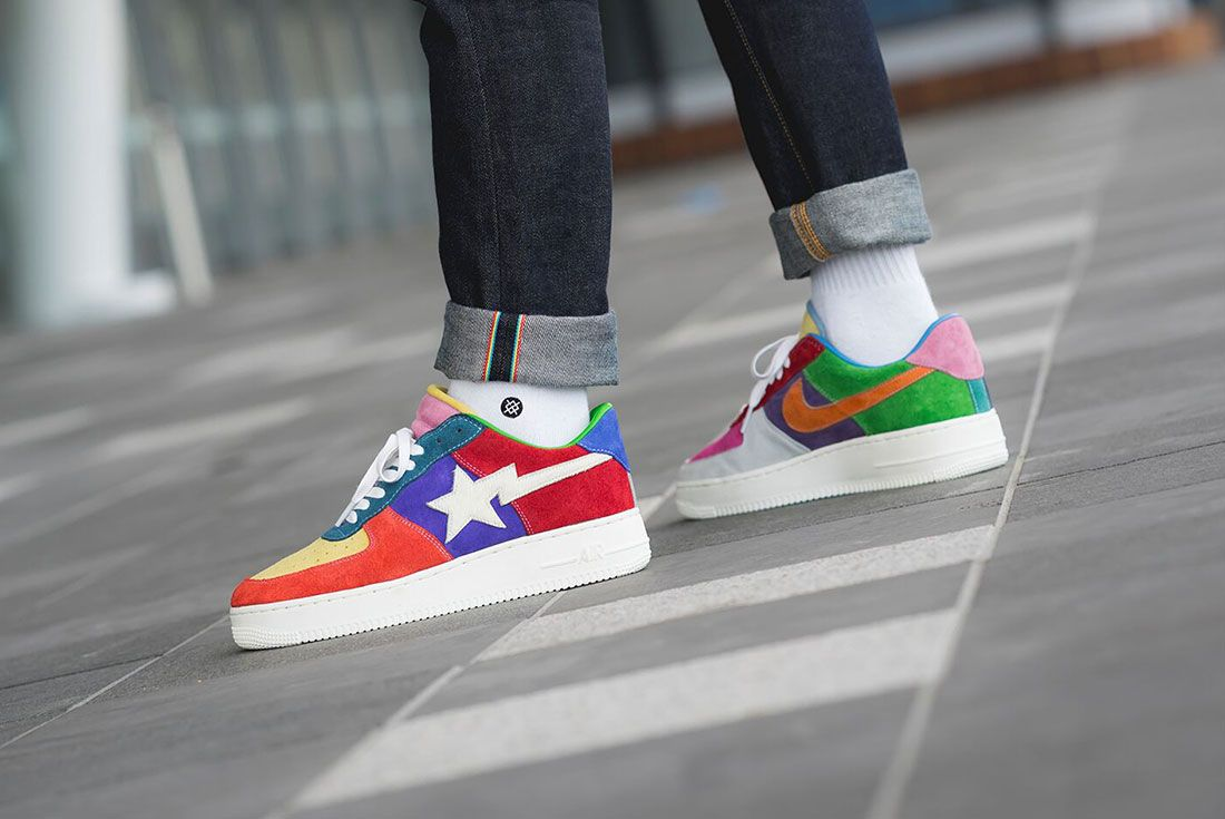 Bespoke Ind Easter What The Swoosh Air Force 1 On Foot6