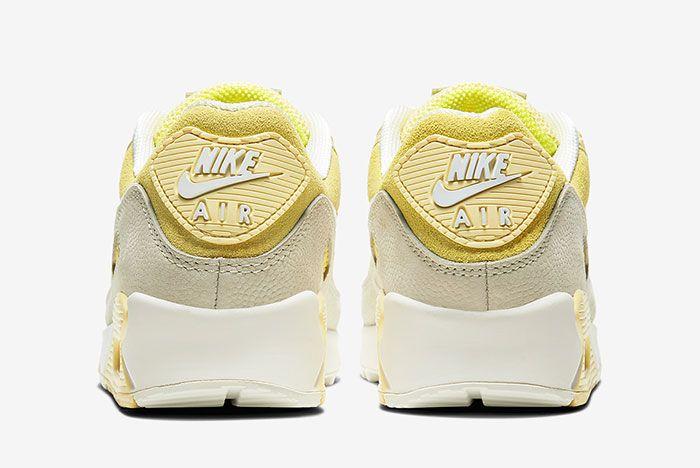 Nike Air Max 90 Lemon Cw2654 700 Heel Shot