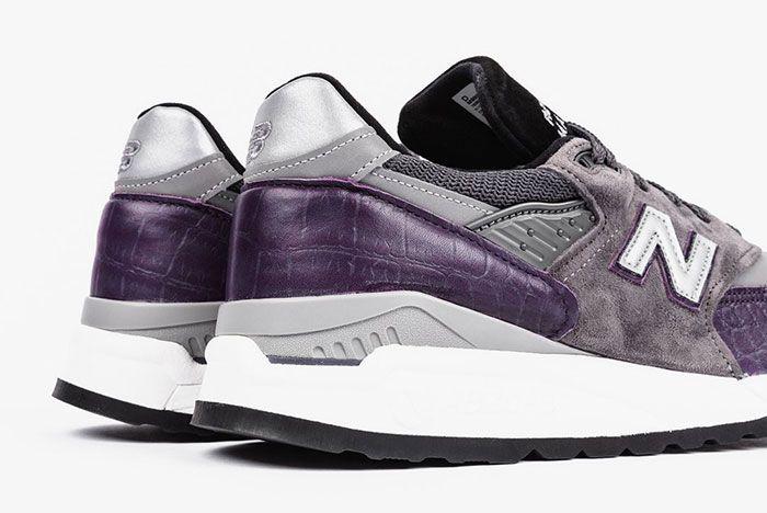 New Balance M998 Purple Faux Croc Colorway Release3 Heel