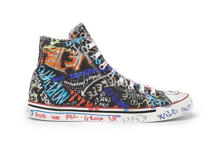 Vetements Graffiti Canvas Sneakers High Top 01 Sneaker Freaker