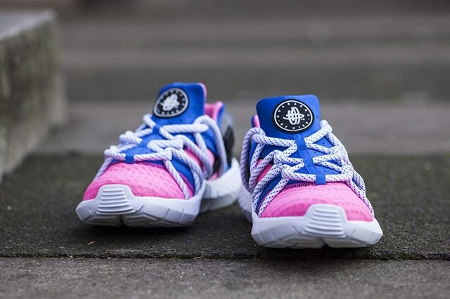 Huarache Nm Blue Pink Bumper 1