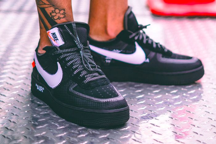 Off White Air Force 1 Black Cone