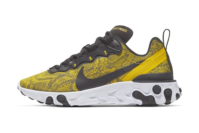 Nike React Element 55 Yellow Snakeskin Release Date Lateral