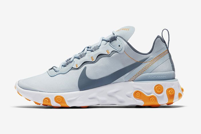 Nike React Element 55 Light Blue Bq2728 400 Release Date Lateral
