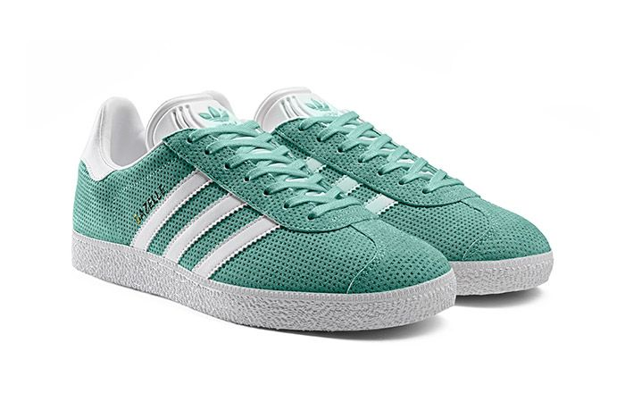 Adidas Gazelle Perforation Green 1