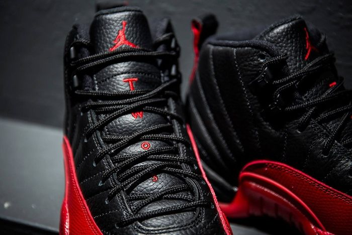 Air Jordan 12 Retro Flue Game Black Varsity Red 4