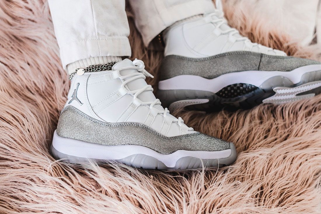 Air Jordan 11 Womens Metallic Silver Jd Sports Hero Shot3