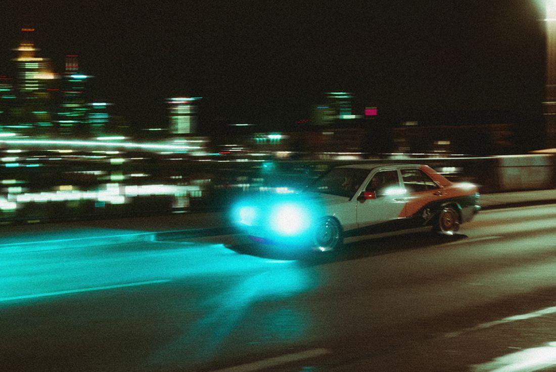 43einhalb Mercedes 190E 'Infrared Benz' Air Max 90