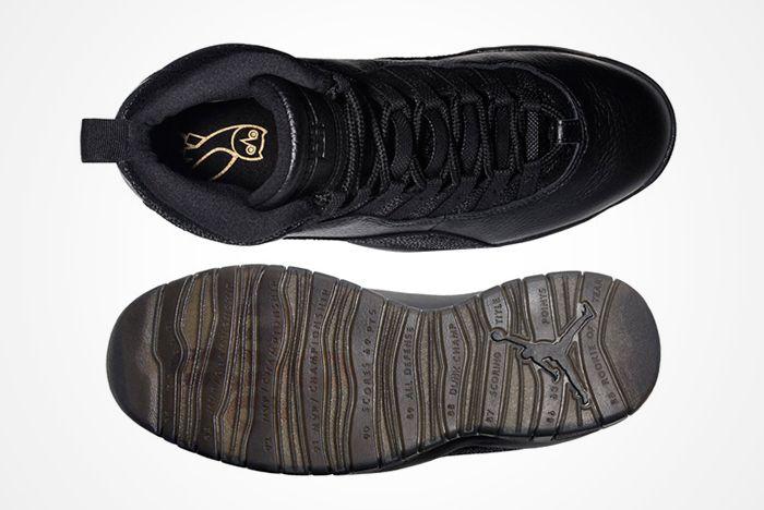 Drake X Air Jordan 10 Ovo Black Stingray3