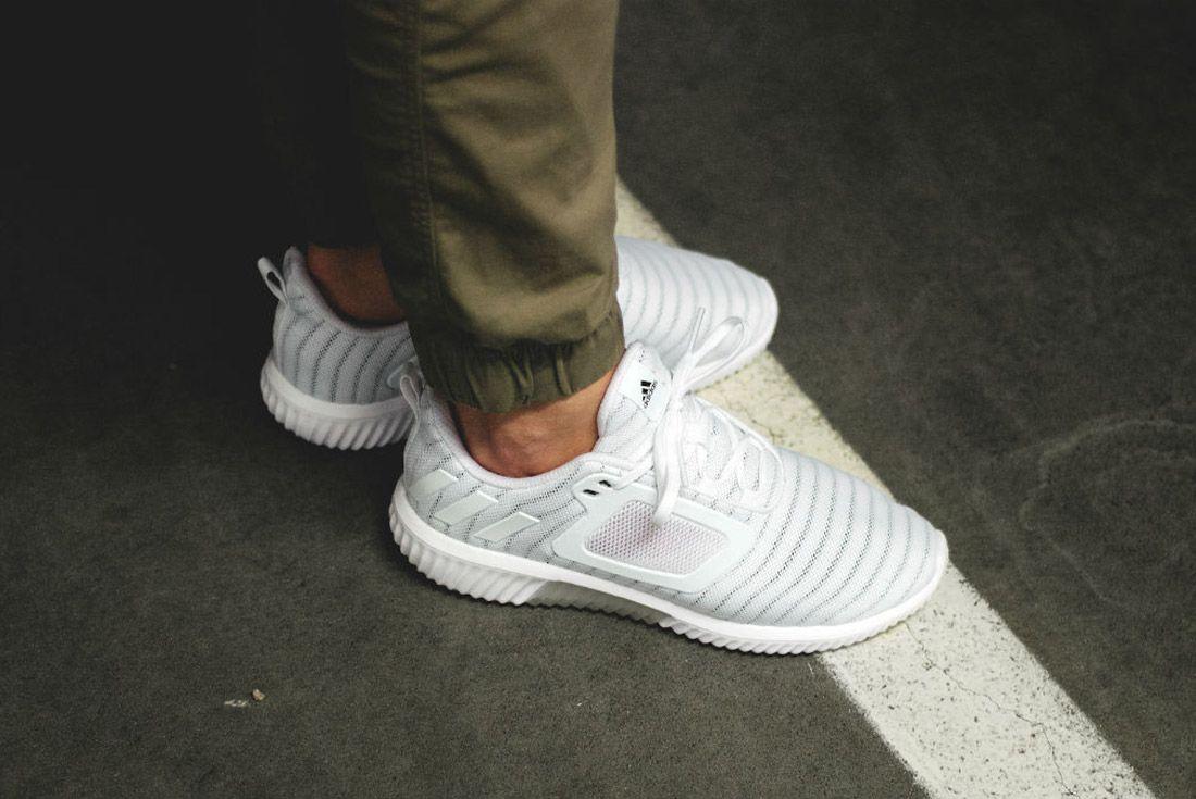 Adidas Climacool 2017 Triple White On Feet 2