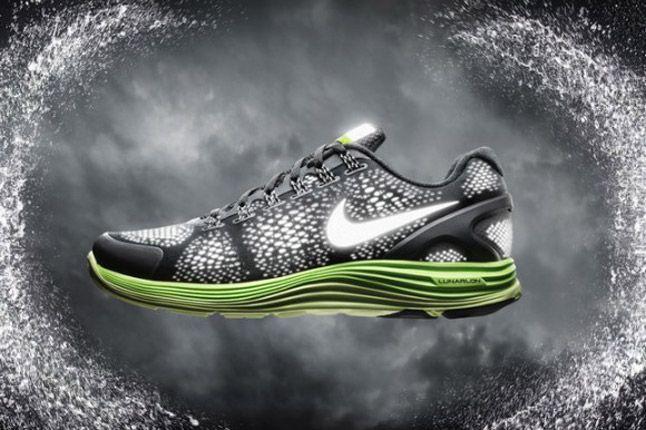 Nike Lunarglide 4 Shield 2012 Black Green 1