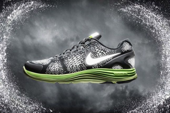 Nike Lunarglide 4 Shield 2012 Black Green 1