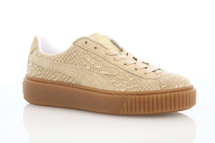 Puma Platform Exotic Skins Natural Vachetta
