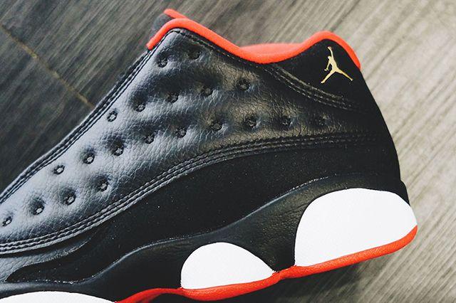 Air Jordan 13 Low Black Red Gold Gs 4