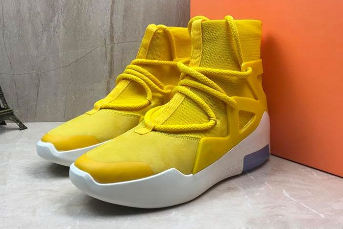 Nike Air Fear Of God 1 Amarillo Release