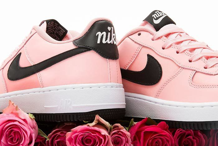 Nike Air Force 1 Valentines Day Bleached Coral Heel