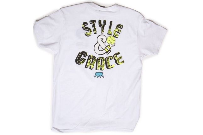 Style And Grace Tee Wht Nyl Bk 1