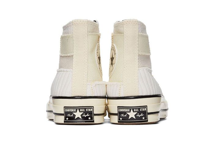 Converse Patchwork Chuck 70 High Sneakers White Rear