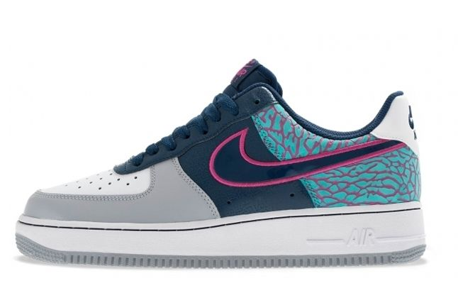Nike Air Force 1 Low Midnight Navy Fusion Pink Elephant Profile 1