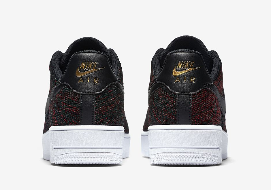 Nike Air Force 1 Low Flyknit Burgundy 817419 005 05