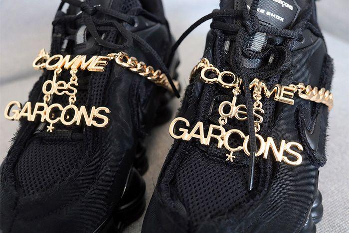 Cdg Nike Shox Black Release Date Chain