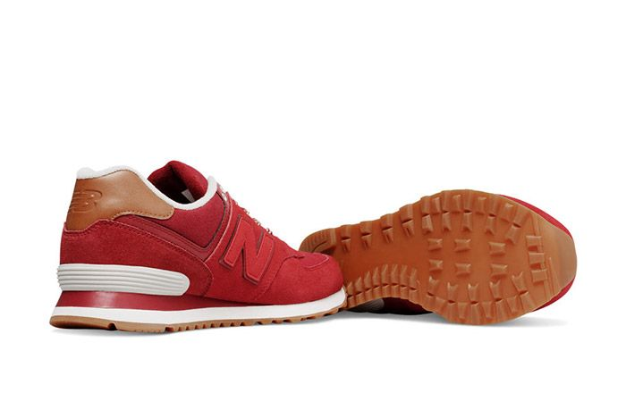 New Balance 574 Collegiate Pack Red 1
