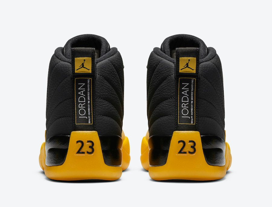 Air Jordan 12 University Gold Heel
