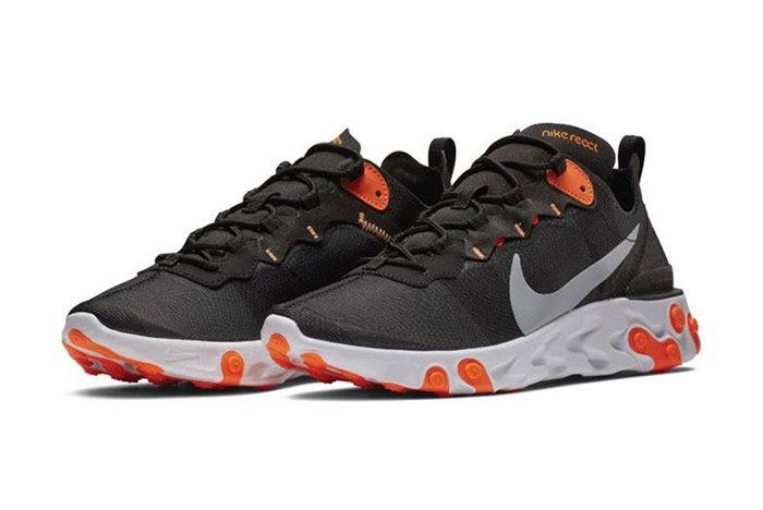 Nike React Element 55 Black Orange 1