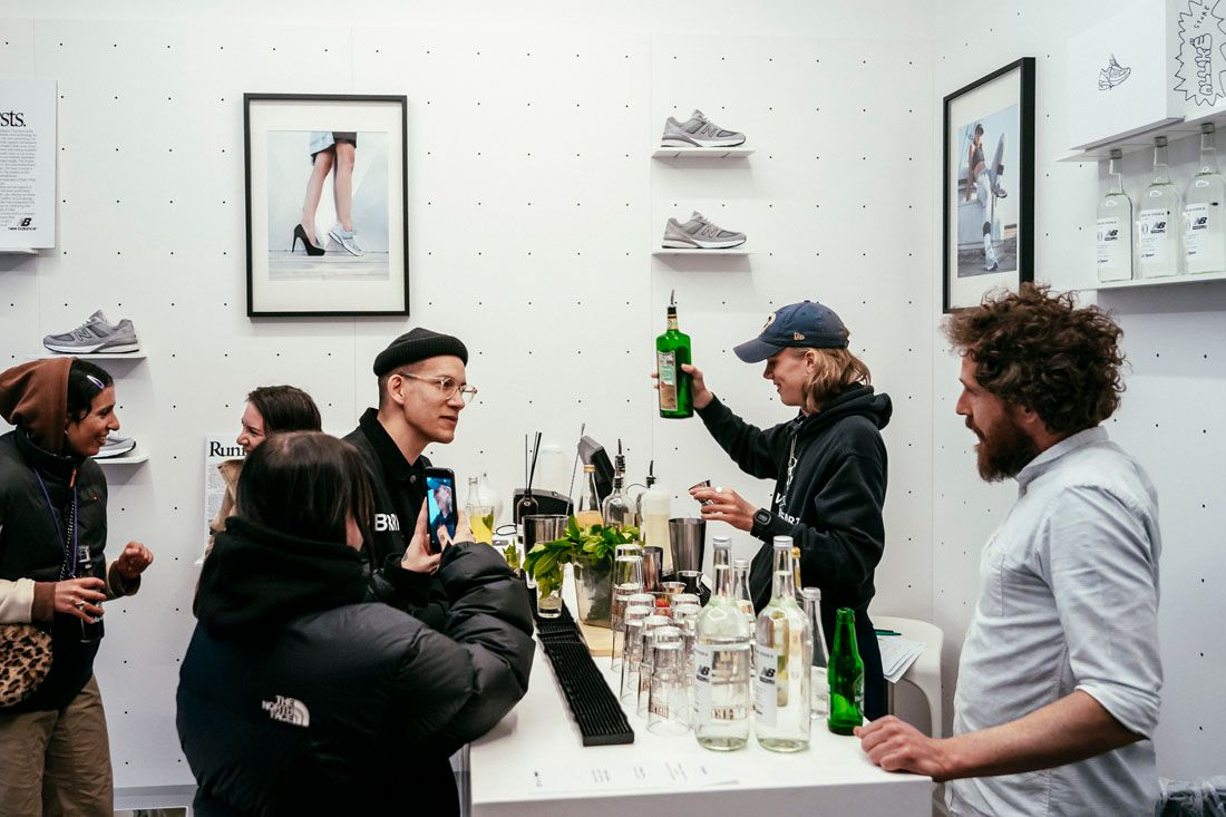 New Balance 990V5 Allike Launch Event Recap May 2019 16 Attendees At Bar