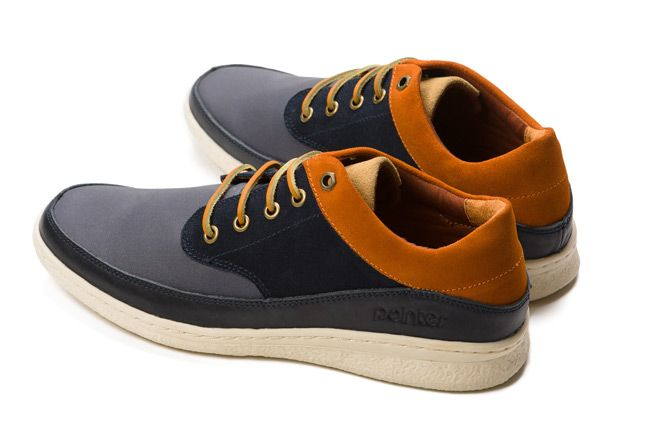 Pointer William Navy Ginger Pair Leather 1