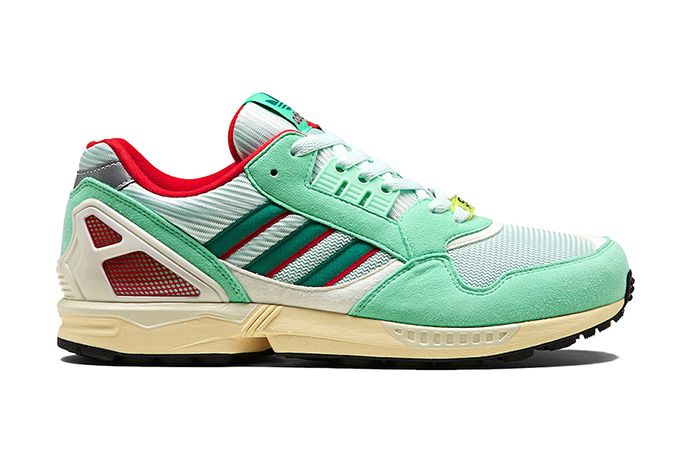 Adidas Zx 9000 Mint Scarlet Yellow Fu8403 Release Date Lateral