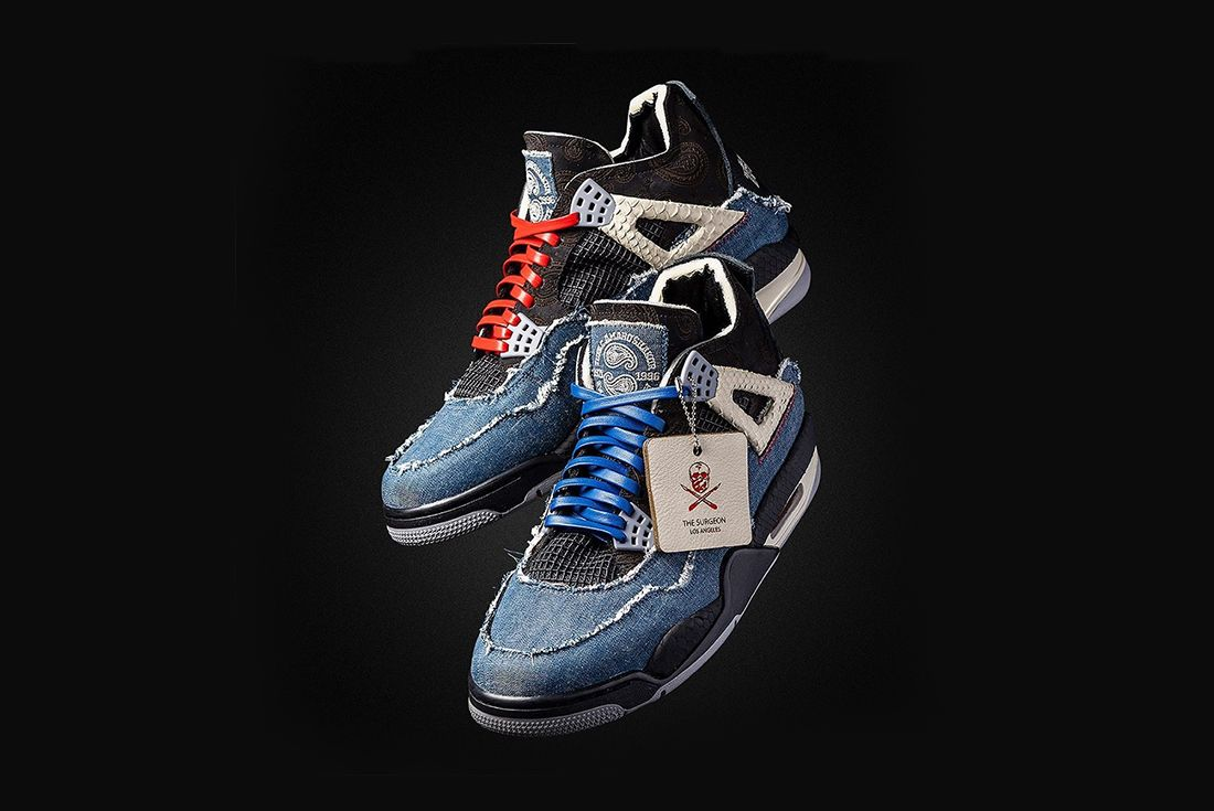 shoe surgeon air jordan 4 tupac