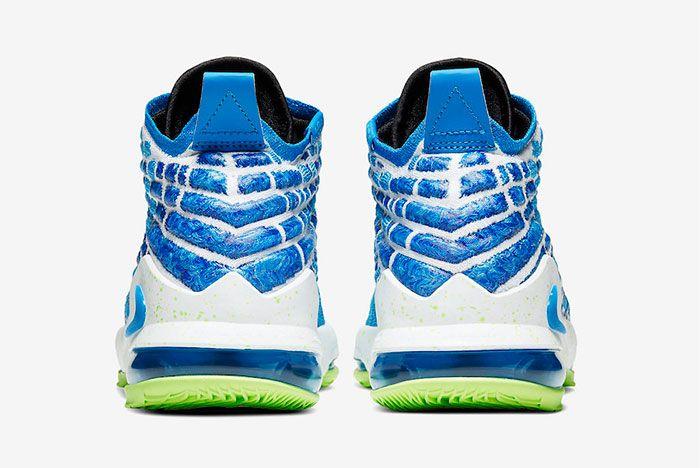 Nike Lebron 17 Photo Blue Heel