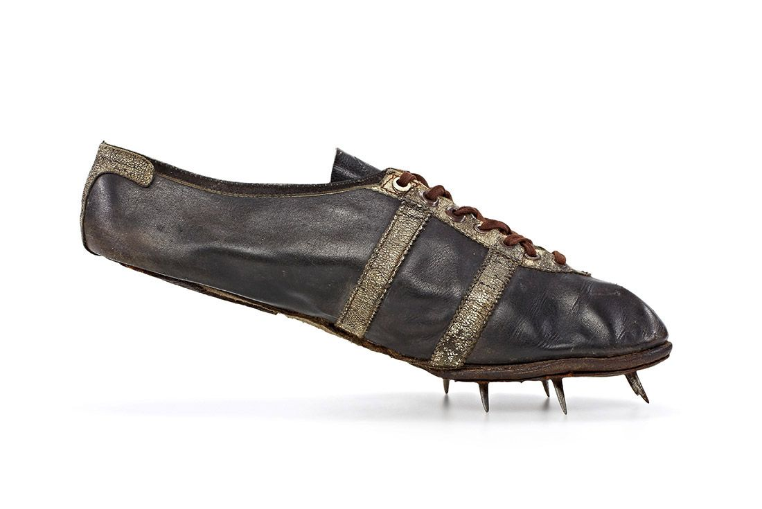 Material Matters Leather Jesse Owns 1936 Olympics Track Spike Shoe