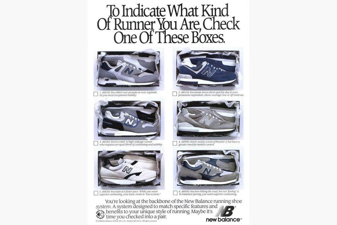 Material Matter What Is 3 M Reflective Vintage Advertisement New Balance 1